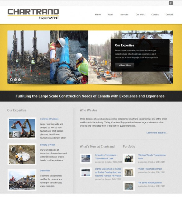 Chartrand Equipment home page