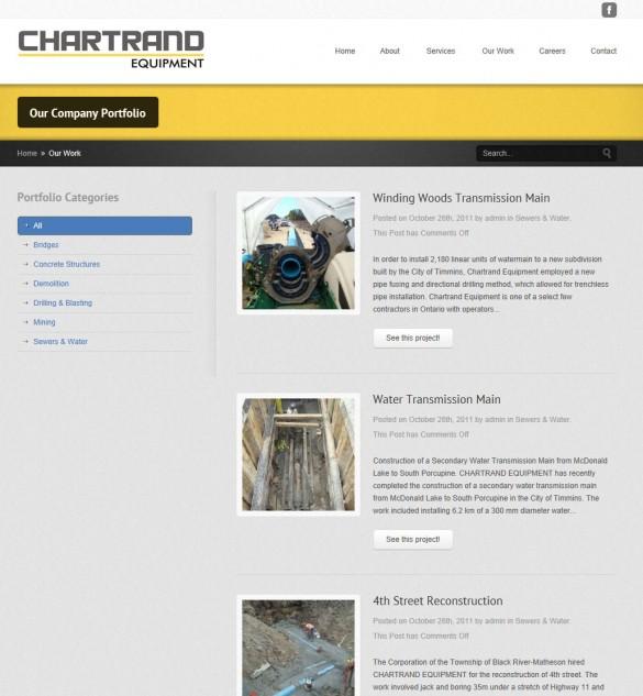 Chartrand Equipment portfolio listing