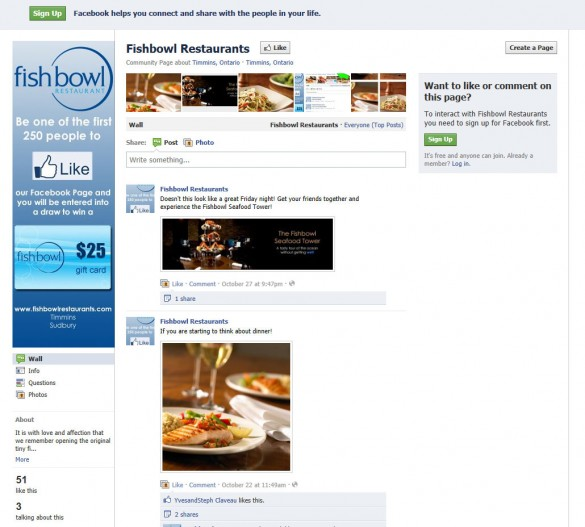 Fishbowl Facebook page