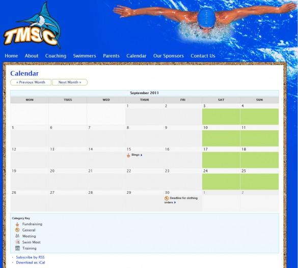 Timmins Marlins event calendar