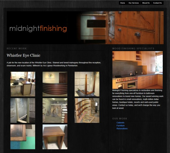 Midnight Finishing home page