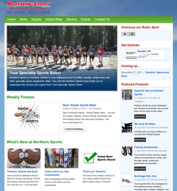 Northern Sports home page