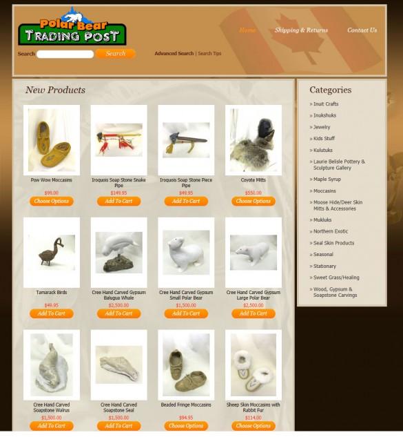 Polar Bear Trading Post online store front