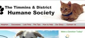 Timmins Humane Society banner