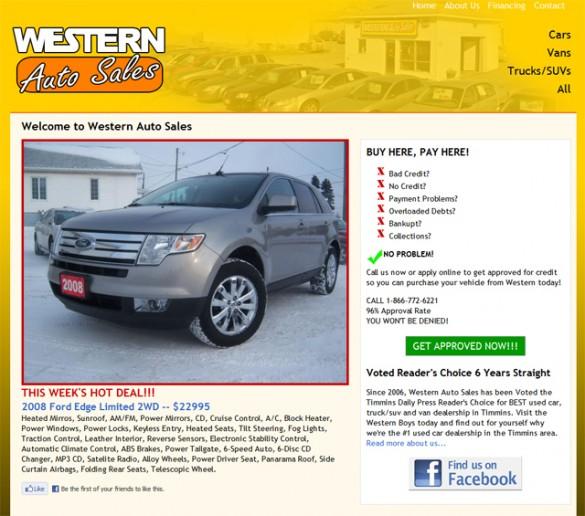 Western Auto Sales website